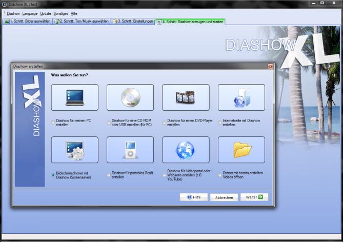 Bildschirmschoner Screensaver aus Diashow erstellen