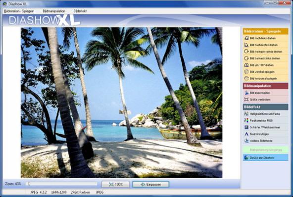 Diashow XL - das Diashowprogramm mit integrierter Bildbearbeitung