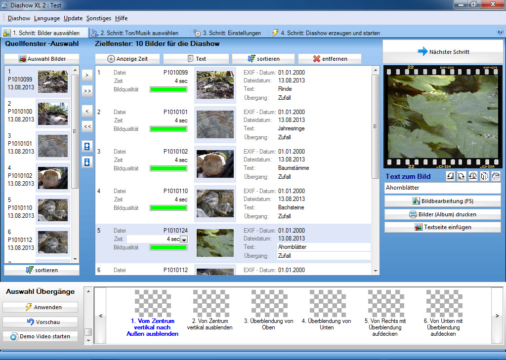 Diashow software diashow xl zum diashow erstellen hier downloaden diashows unter windows 10 erstellen ccuart Image collections